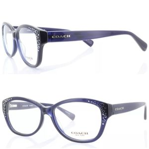 Coach 6076 Blue Frame RX Eyewear Glasses Lenses